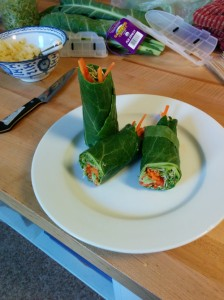 I made these raw collard wraps at home